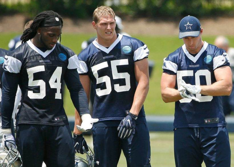 Sean Lee, Jaylon Smith, Leighton Vander Esch