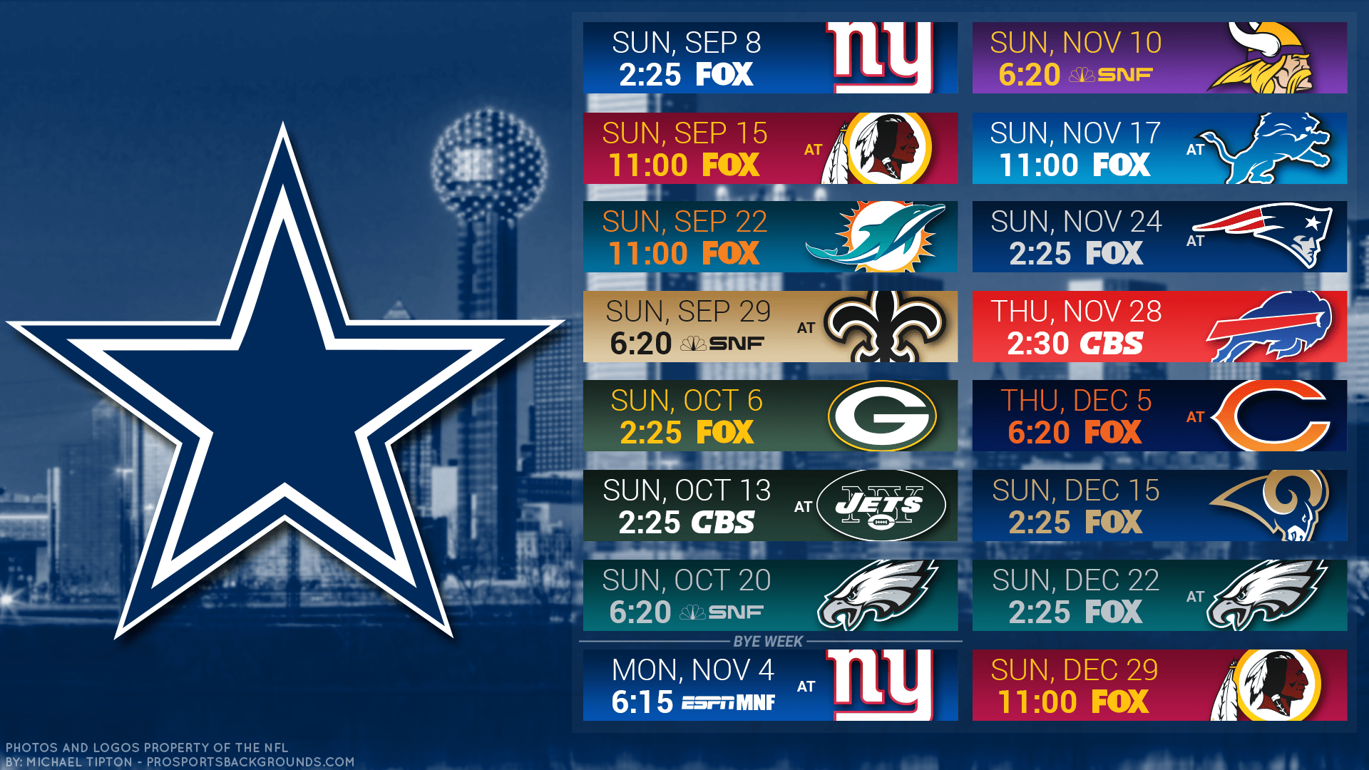 graphic relating to Dallas Cowboy Schedule Printable referred to as Compensated and Finish: The Formal 2019 Dallas Cowboys Year