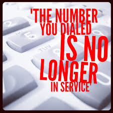 number no longer in service