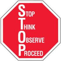 stop think proceed