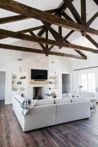 09 Cozy Modern Farmhouse Living Room Decor Ideas
