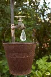 01 Inspiring Faucet Garden Decor for Front and Backyard Ideas