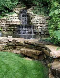 01 Unique Backyard Garden Water Feature Landscaping Ideas