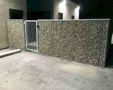 06 Fabulous Gabion Fence Design for Garden Landscaping Ideas