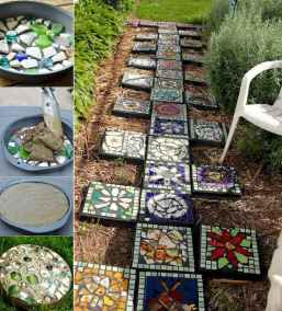 07 Excellent DIY Mosaic Garden Decoration Ideas for Front and Backyard Landscaping