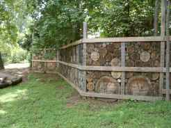 14 Fabulous Gabion Fence Design for Garden Landscaping Ideas