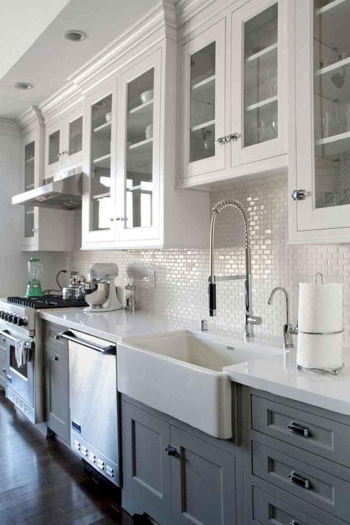 18 Incredible Farmhouse Gray Kitchen Cabinet Design Ideas