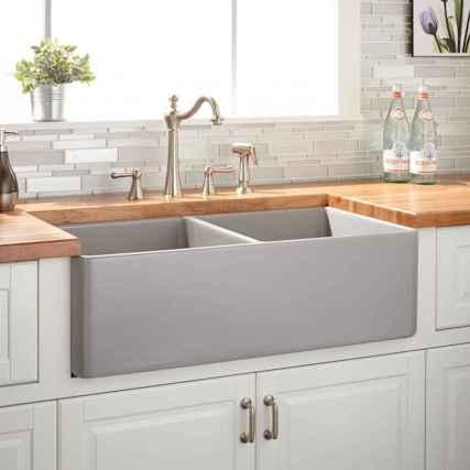 20 Incredible Farmhouse Gray Kitchen Cabinet Design Ideas