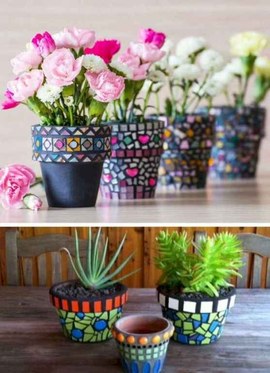 22 Excellent DIY Mosaic Garden Decoration Ideas for Front and Backyard Landscaping
