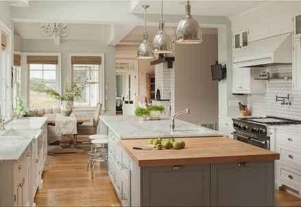 23 Incredible Farmhouse Gray Kitchen Cabinet Design Ideas