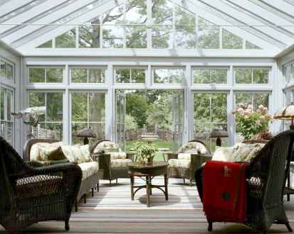 33 Cozy Farmhouse Sunroom Decor Ideas