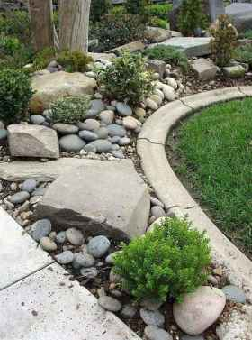 37 Awesome Front Yard Rock Garden Landscaping Ideas