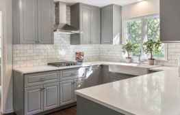 37 Incredible Farmhouse Gray Kitchen Cabinet Design Ideas