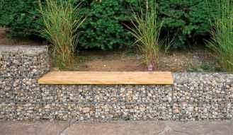 41 Fabulous Gabion Fence Design for Garden Landscaping Ideas