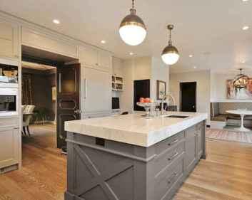42 Incredible Farmhouse Gray Kitchen Cabinet Design Ideas