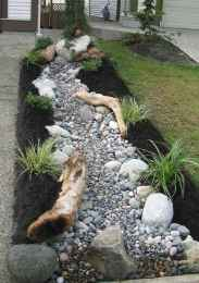 43 Awesome Front Yard Rock Garden Landscaping Ideas