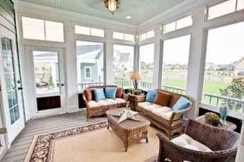 46 Cozy Farmhouse Sunroom Decor Ideas
