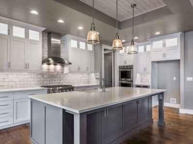 46 Incredible Farmhouse Gray Kitchen Cabinet Design Ideas