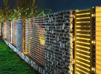 47 Fabulous Gabion Fence Design for Garden Landscaping Ideas