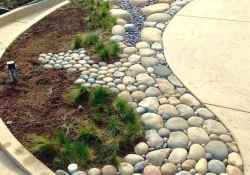48 Awesome Front Yard Rock Garden Landscaping Ideas
