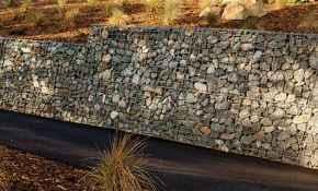 51 Fabulous Gabion Fence Design for Garden Landscaping Ideas