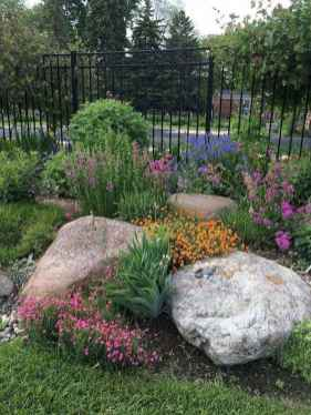 58 Awesome Front Yard Rock Garden Landscaping Ideas