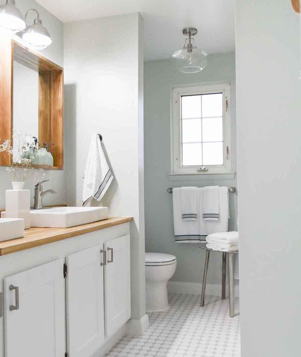 60 Awesome Farmhouse Bathroom Tile Floor Decor Ideas