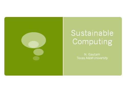 Sustainable Computing FI
