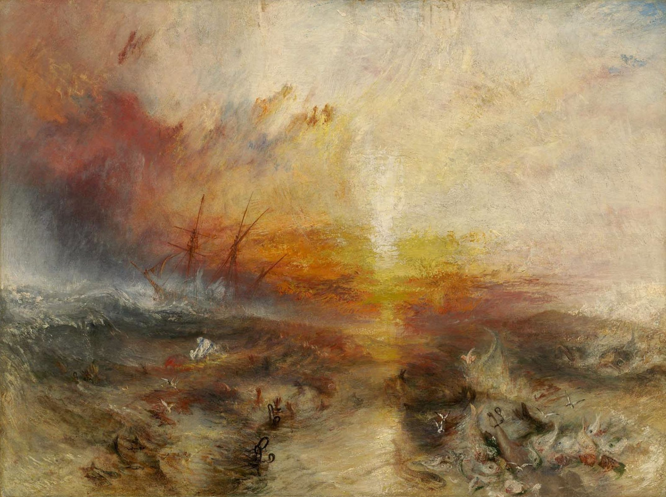 William TURNER - The Slave Ship, love, sun, insight, coaching