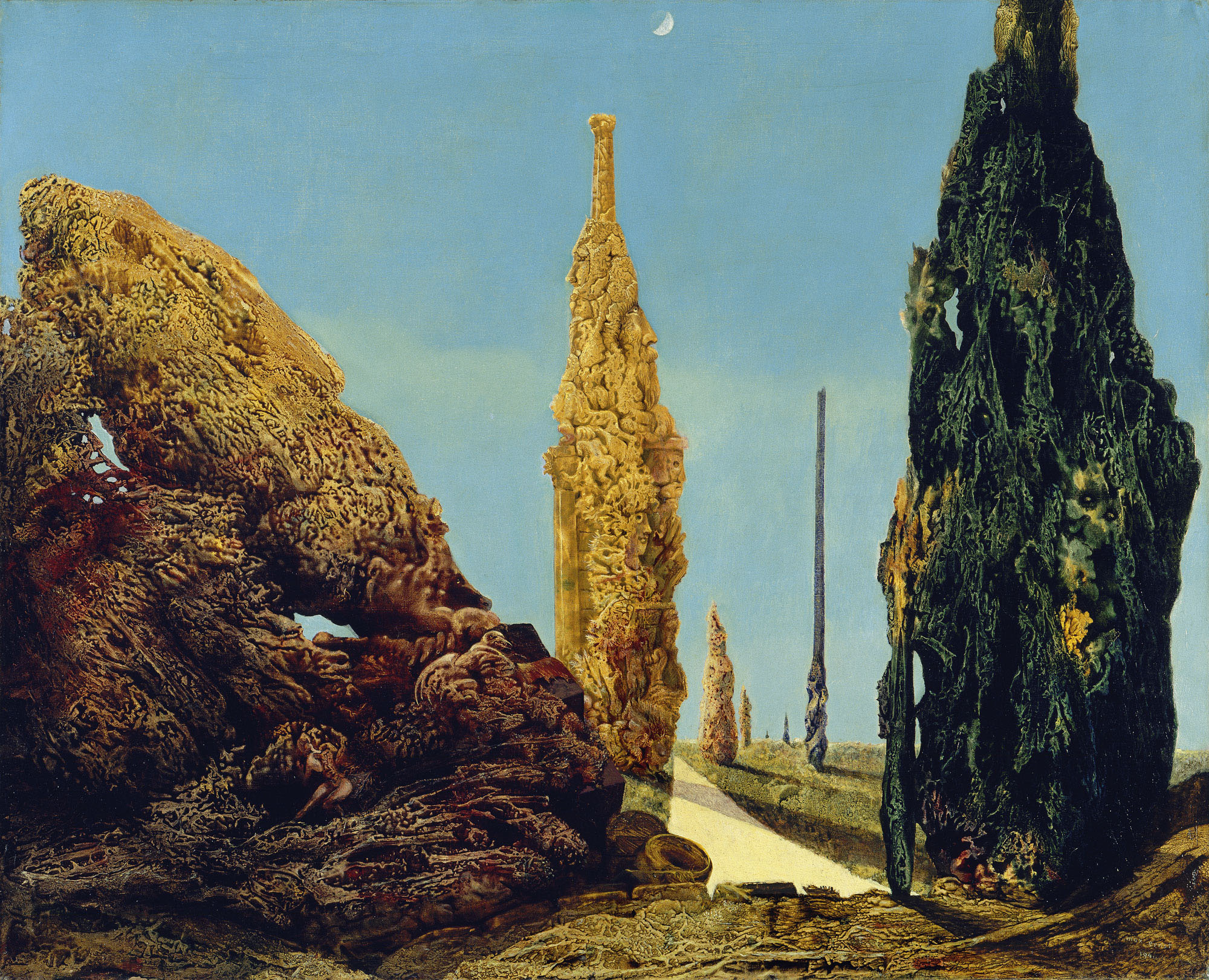Max ERNST, Arbre solitaire et arbres conjugaux, art, insight, coaching, vocation