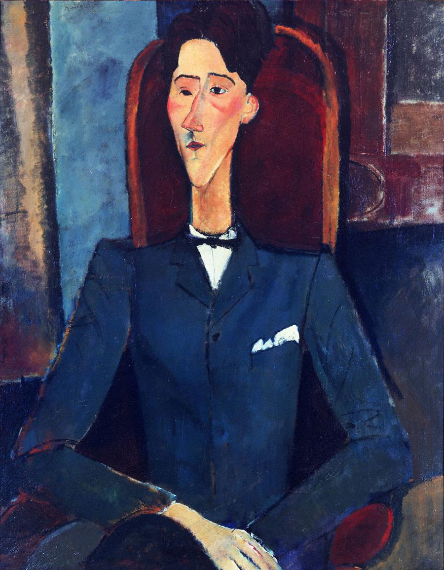 Amedeo MODIGLIANI, Jean Cocteau, portrait, art therapy, identity, self