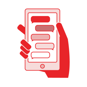 Crisis Text Line - the counselor will help you move forward from a crisis moment