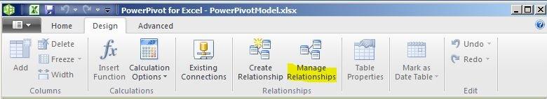 powerpivot create relationship between tables