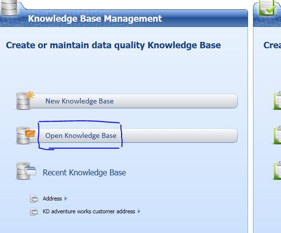 SQL Server 2012 Data Quality Services delete a Knowledge Base