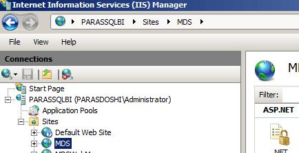 SQL Server 2012 master data services web manage UI