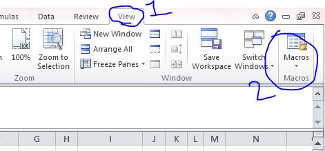 Open Macro Excel 2010