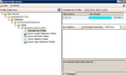 6 SSIS Data Profiling Task Data Cleaning Candidate Key