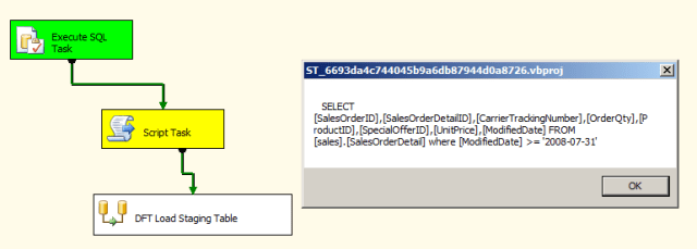 SSIS Incremental Load Staging Table