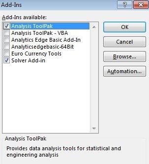 Histogram analysis toolpak excel