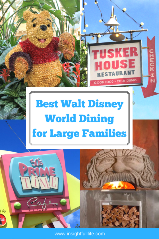 Walt Disney World Dining for Large Families