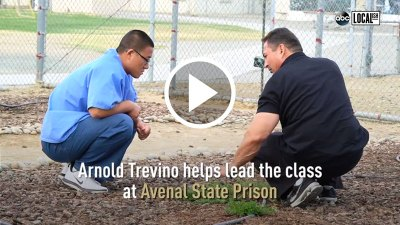 Arnold Trevino helps lead the Insight Garden Program classes at Avenal State Prison. Click here to watch the ABC news story aired 10/8/19.