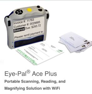 Eye Pal Ace. Portable scanner and reader