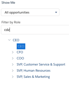 report role selection