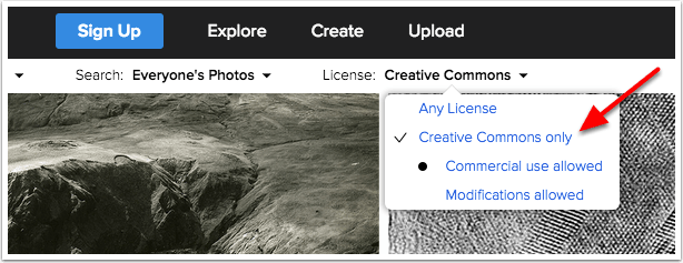 Flickr Creative Commons Only