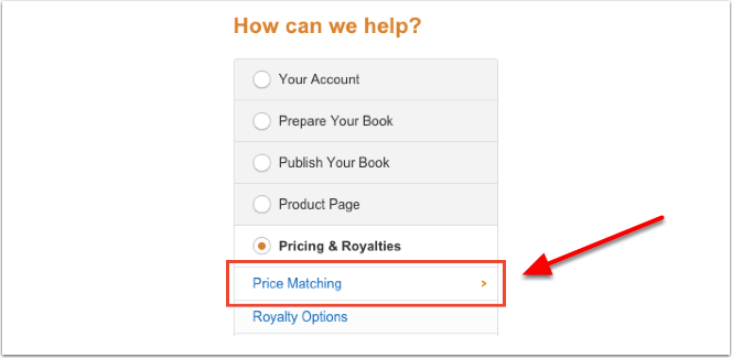 Amazon price matching permafree