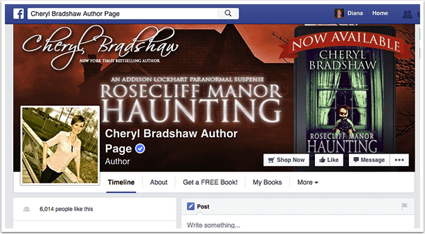 Author Page Facebook Cover Photo