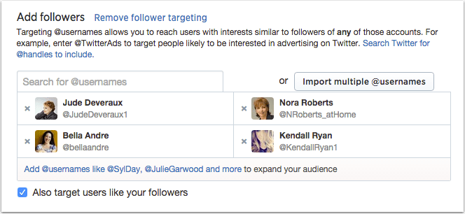Twitter lets you finely target, too!