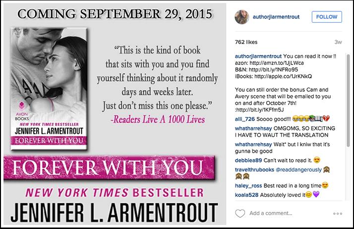 Jennifer Armentrout Instagram