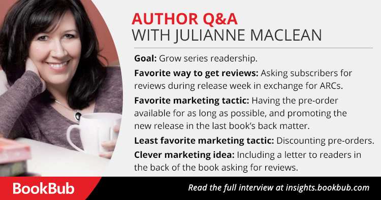 Julianne MacLean BookBub Interview
