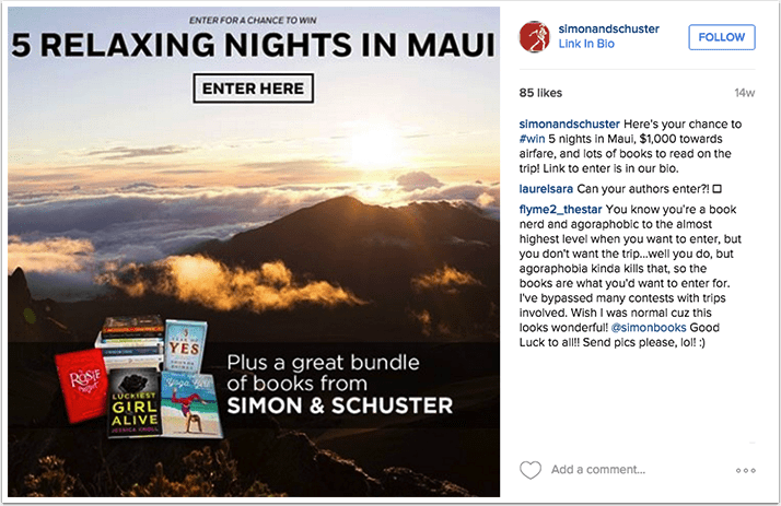 Simon and Schuster Instagram